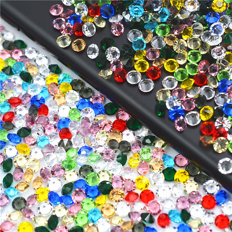 1500PCS Mix colors Nail Art Rhinestones crystal Glass Non Hot Fix sharp bottom Rhinestone decorations nails jewelry accessoires 4 6 waterdrop shape 3d nail art sharp bottom glass rhinestone nail tip decoration phone decor accessories 10pc