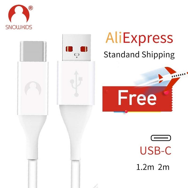 0d04f097cda Snowkids USB-C tipo de Cable C Cable de sincronización de datos del  cargador para