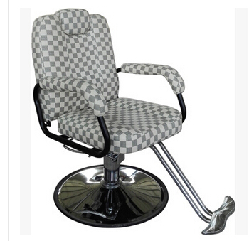Hair salon barber chair. Hairdressing chair. Put down the barber chair. the bar chair hairdressing chair the back of a chair stool rotating lifting chair
