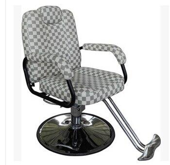 Hair salon barber chair. Hairdressing chair. Put down the barber chair. gold euramerican style design hairdressing chair barber chair