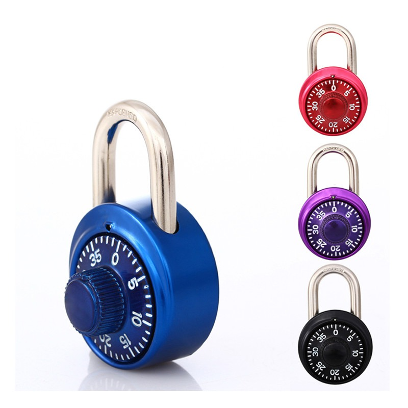 8e4d566912b0 US $3.42 48% OFF|Safe Fixed Number Lock Digital Rotating Password Steel  Round Padlock Turntable Gym Cabinet Student Door Lock Letter Hardware-in  Locks ...
