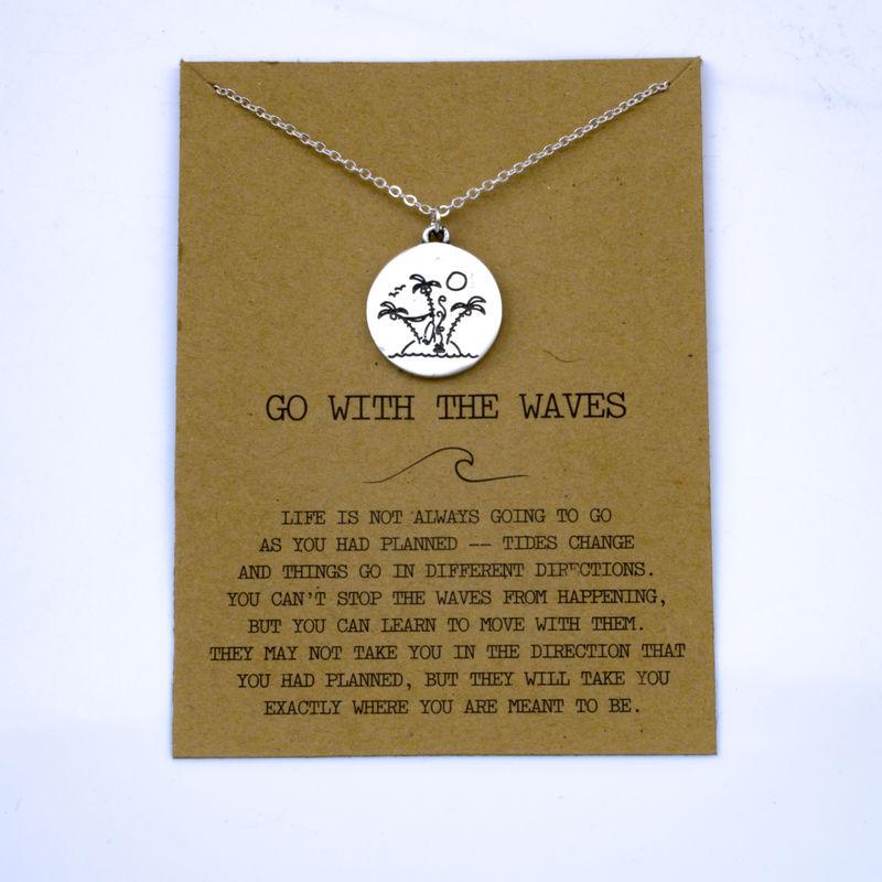 """SanLan 1 шт идут в комплекте ожерелье с подвеской """"волны"""" Океан ювелирные изделия - Окраска металла: 04"""