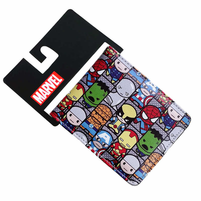 Marvel Comics The Avengers Captain America Wallet Iron Man Spider-Man Hulk Leather Short Bi-Fold Wallets Purse Dollar Price