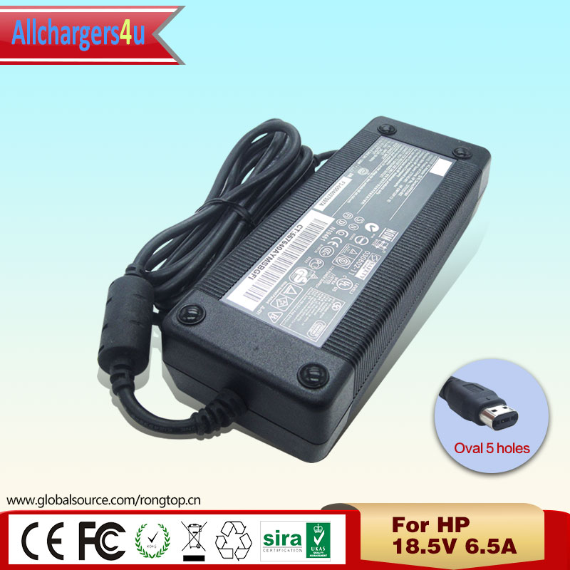 online buy whole hp 120w ac adapter from hp 120w ac original laptop ac adapter 18 5v 6 5a 120w oval 5 holes for hp notebook nx9600