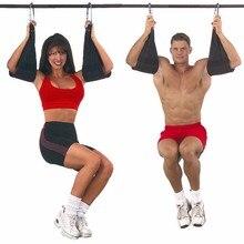 Домашний фитнес 2 шт. слинг ремни брюшной резчик висячий пояс подбородок вверх сидячий бар откатный сверхмощный тренировочный пояс для мышц