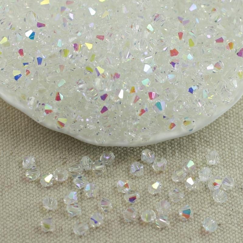 Wholesale 4MM 100pcs Austria Crystal Beads Spacer Glass Bead DIY Earrings Bracelet Choker Necklace Jewelry Making