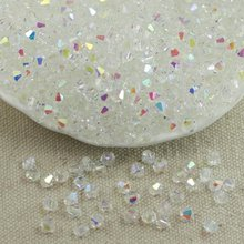 Wholesale 4MM 100pcs Austria Crystal Beads Spacer Glass Bead DIY Earrings Bracelet Choker Necklace Jewelry Making(China)