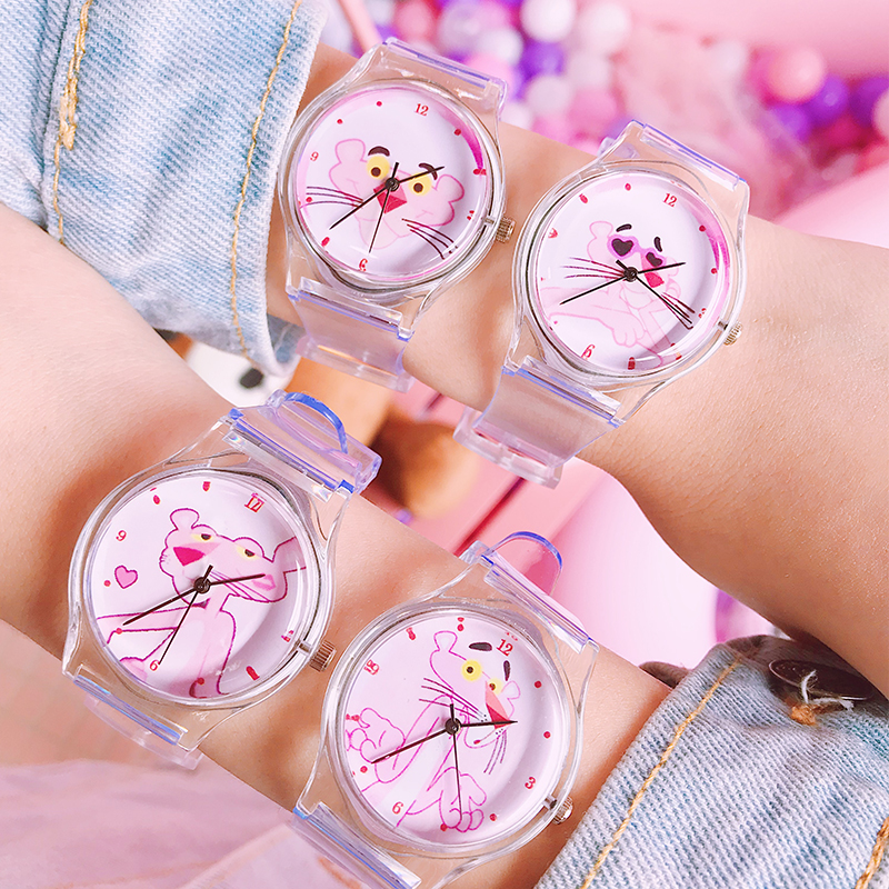 2019 New Launch Cat And Mouse Baby Watch Children Kids Watches Transparent Soft Silicone Child Girls Boys Clock Students Clock