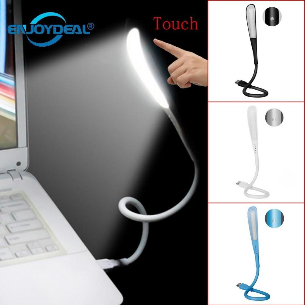 Portable Mini USB Led Lamp Flexible LED In-line USB Light Ultra Bright 14LEDS PC