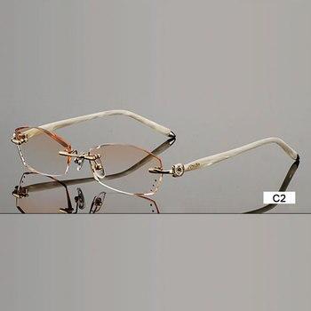 b620cc7e4d De gafas de moda B002 de diamantes de corte sin montura anteojos óptica gafas  de marco para las mujeres gafas