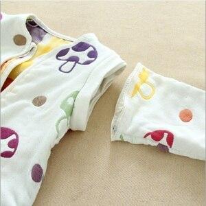 Image 5 - Muslin bebek uyku tulumu kış 6 kat pamuklu çocuklar uzun kollu pijama 0 5 yıl çocuk pamuk Sleepsack bebek pijama