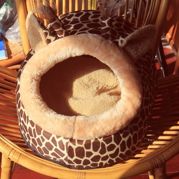 Soft Warm Dog House Leopard Pet Sleeping Bag House for Small Medium Dog Cats Pet Supplies Cat Products S/M/L 2