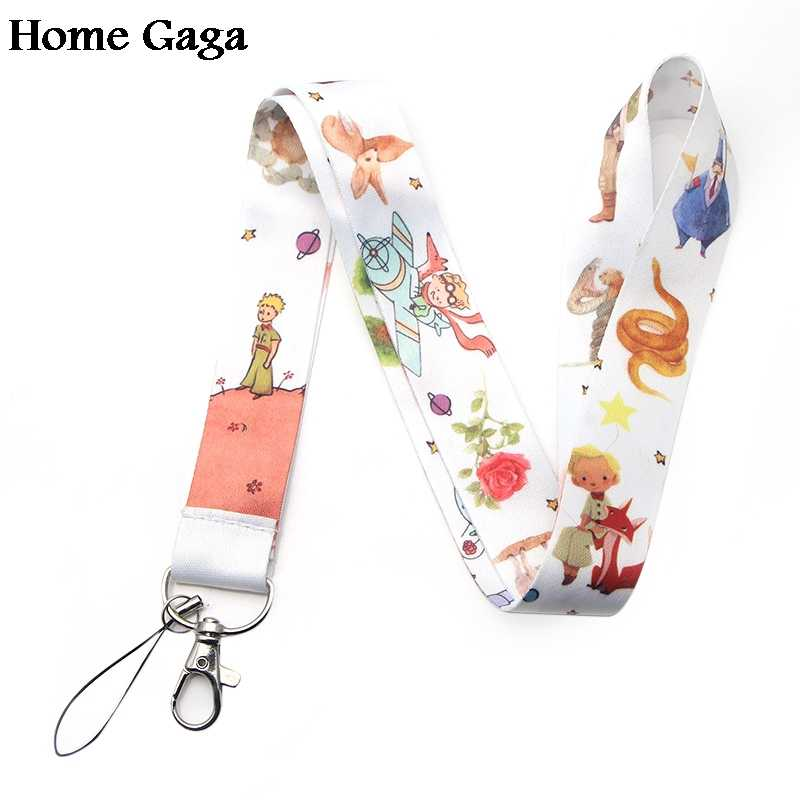 Homegaga little prince cartoon diy keychain lanyard webbing ribbon neck strap fabric badge phone holder necklace accessory D1704