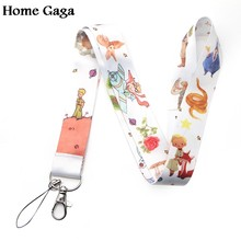 Homegaga prince cartoon diy keychain lanyard webbing ribbon neck strap fabric badge phone holder necklace accessory D1704(China)