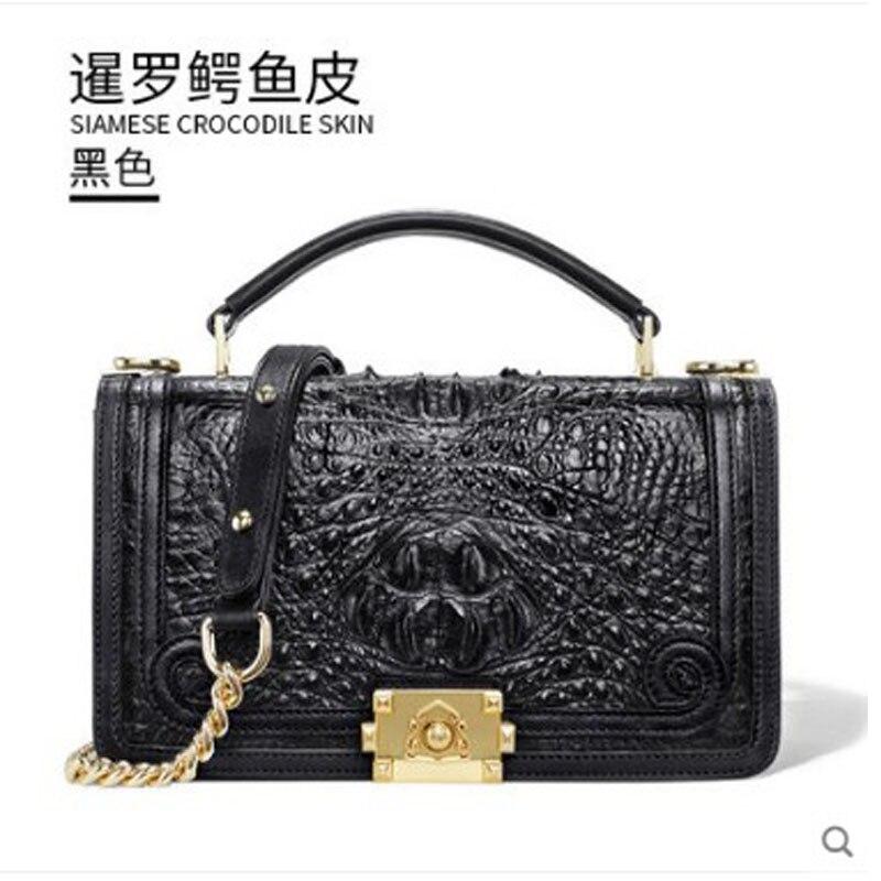 Gete 2019 nouveau sac à main en cuir de crocodile thaïlandais pour dame. Petit cuir parfum sac à bandoulière unique crocodile sac bandoulière femme