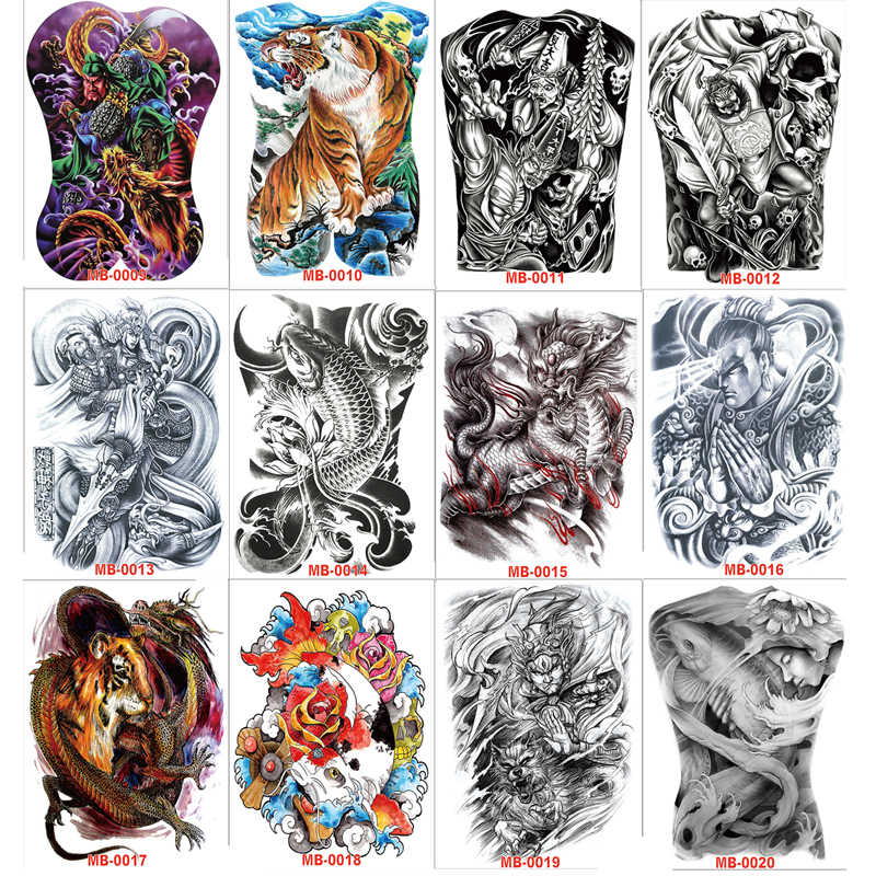 Detail Feedback Questions about 48*35 cm large tattoo stickers 2018 ...