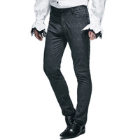 Steampunk Mens Winter Victorian Pants 2016 Gothic Punk Black Long Pants New Arrivals Man Fitted Straight