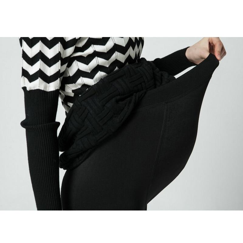 477cb158d Plus invierno engrosamiento de terciopelo Maternidad Leggings Pantalones  ropa para mujeres embarazadas caliente alta cintura suspender embarazo  Pantalones ...