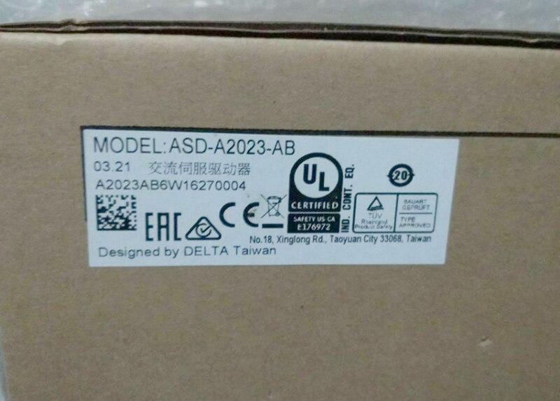 New Original ASD-A2023-AB 3ph 220V 2KW 9.1A Encoder Resolution 2500ppr AC Sevor Drive new brand ab series ac servo drive asd a0421 ab 1ph 220v 400w 2 6a encoder resolution 2500ppr