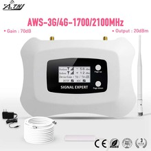 Vendita CALDA! Completa di Smart LCD AWS 1700mhz 3G LTE 4G Ripetitore di Telefono Cellulare Mobile Del Segnale Del Ripetitore amplificatore di segnale cellulare booster