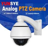YUNSYE 10X оптический зум 1080 P Открытый PTZ Скорость купол Камера ИК Ночное видение аналоговый PTZ Скорость купол Камера аналоговый PTZ камера