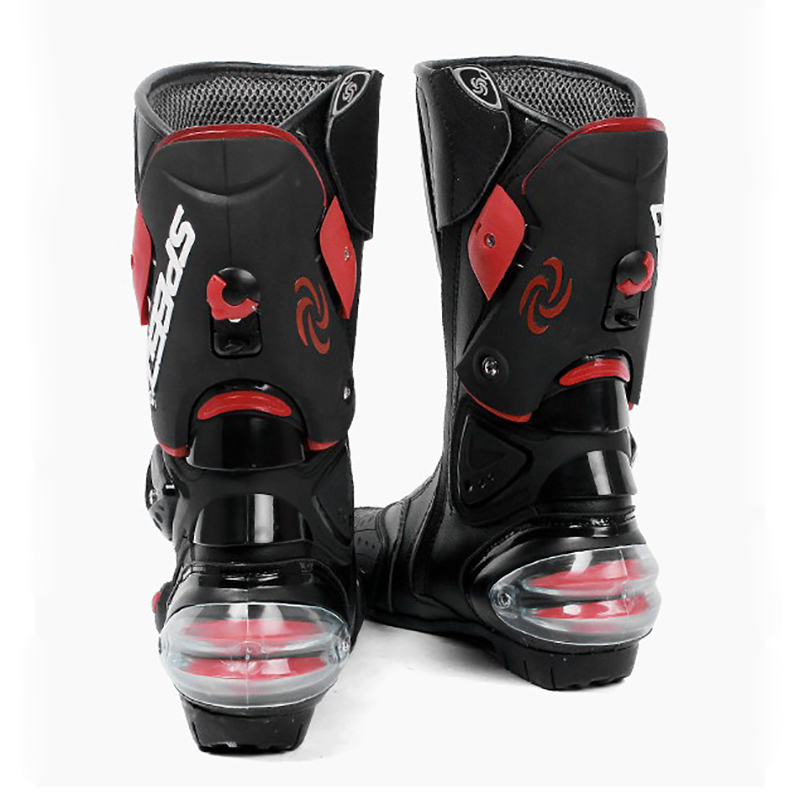 Image 2 - Microfiber Leather Motorcycle boots Mens SPEED Racing dirt bike  Boots Knee high Motocross Boots Riding Motorboatsbike bootsdirt bike  bootsmotorcycle boots -