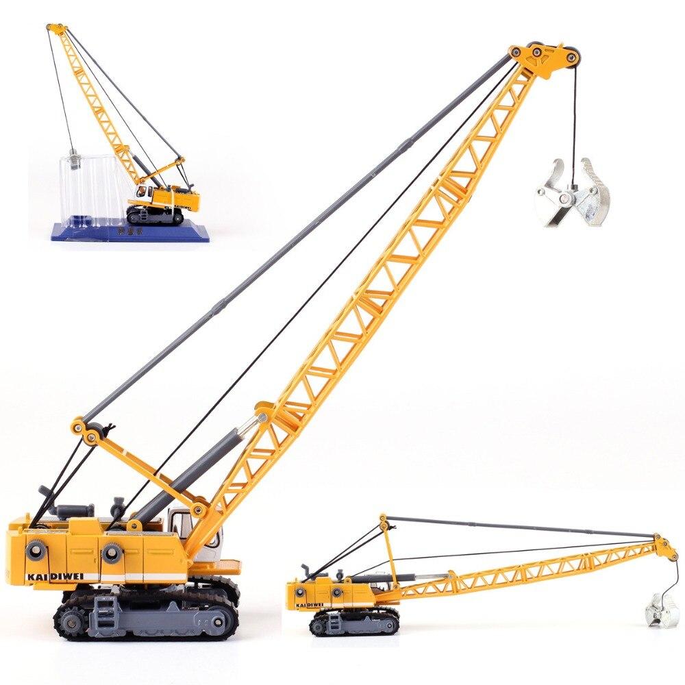 Engineering Vehicle 1:87 Tower Excavator Model Children's Toy Crane Truck Forklift Roller Bulldozer Car Model High Quality Toys