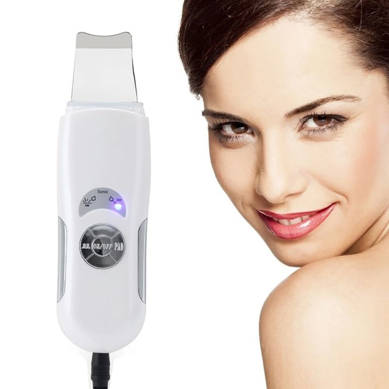 Ultrasonic Face Cleaning Skin Scrubber Facial Massage Machine Anion Skin Deeply Cleaning Peeling Face Lift Scrubber