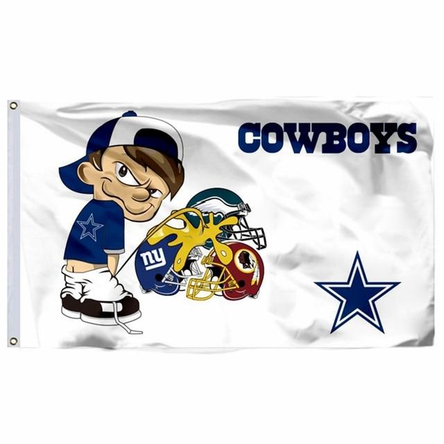 Dallas Cowboys Vs Giants And Eagles Redskins Flag 3ft X 5ft Polyester NFL Team Banner