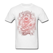 Crew Neck Teenage Clothes 2017 New Trendy Mens The Beast Red Dragon Tattoo T Shirt O Neck Cheap