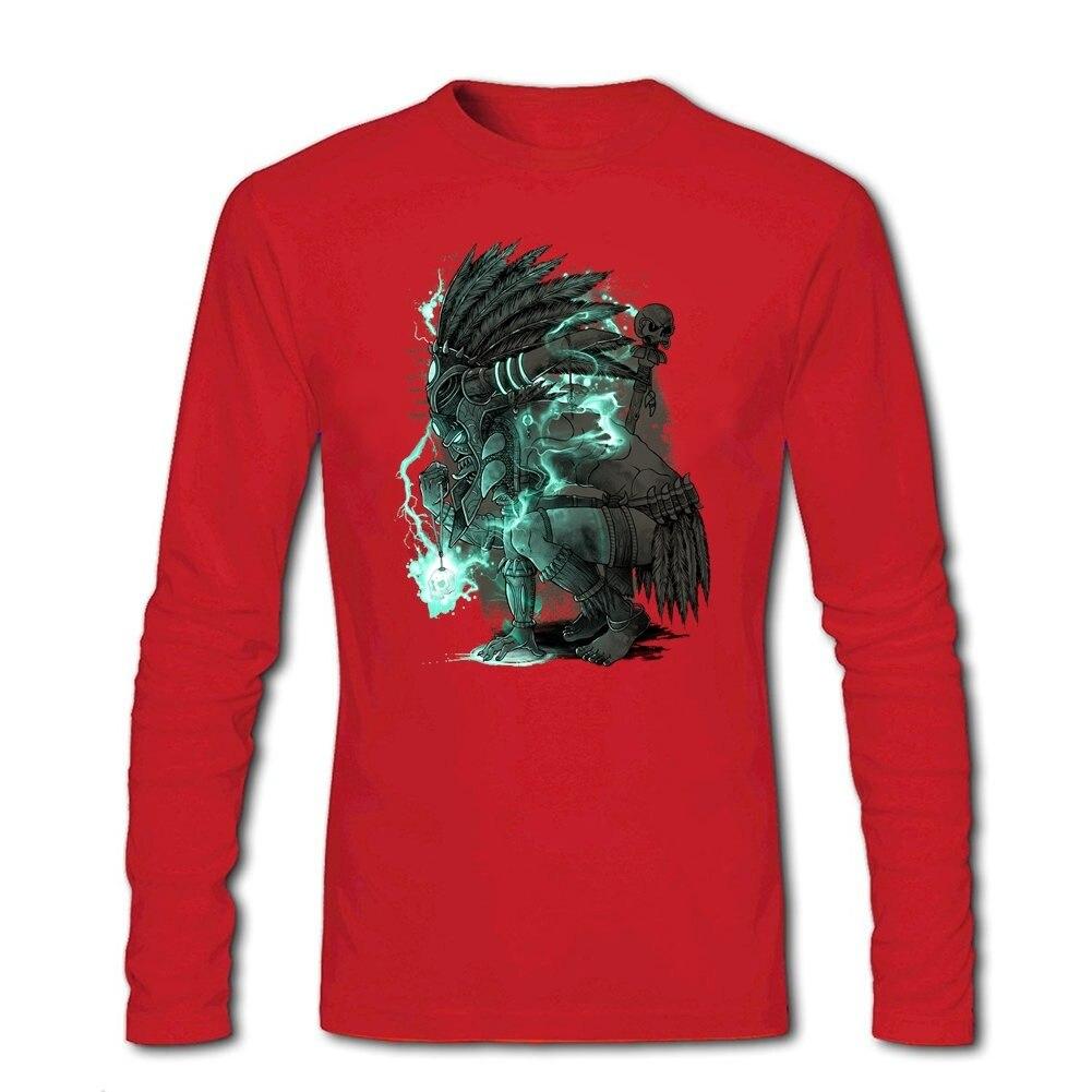 Mens Group Original T-shirts Men Voodoo Fighter O-Neck Funny Design Quilt Shirt formal Shirt - intl