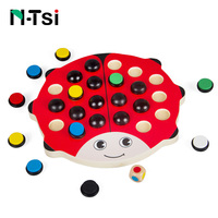 N Tsi Wooden Ladybird Parent Child Fun Educational Toys Beetle Memory Chess Ladybug Color