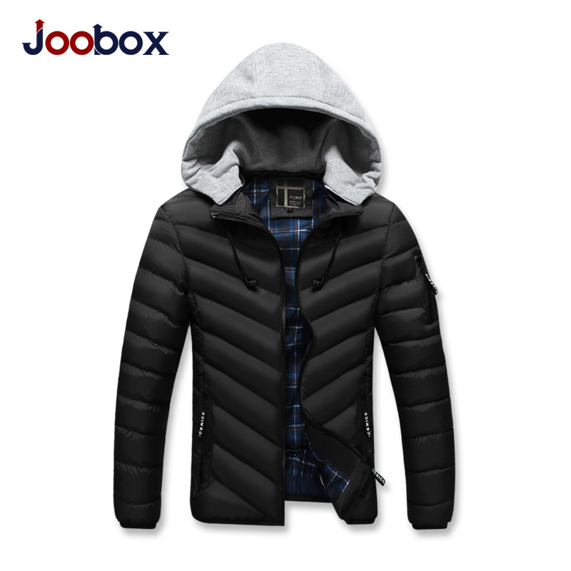 JOOBOX Brand 2017 Polyester Winter Jackets And Coats Thick Warm Cotton Casual Handsome Young oung Men Hooded Parka Fit Snow Cold