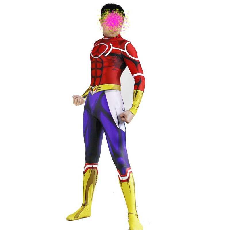 FOGIMOYA أنيمي بطلي الأكاديمية جميع قد تأثيري زي Zentai بذلة ارتداءها هالوين كرنفال حزب للبالغين الرجال الاطفال