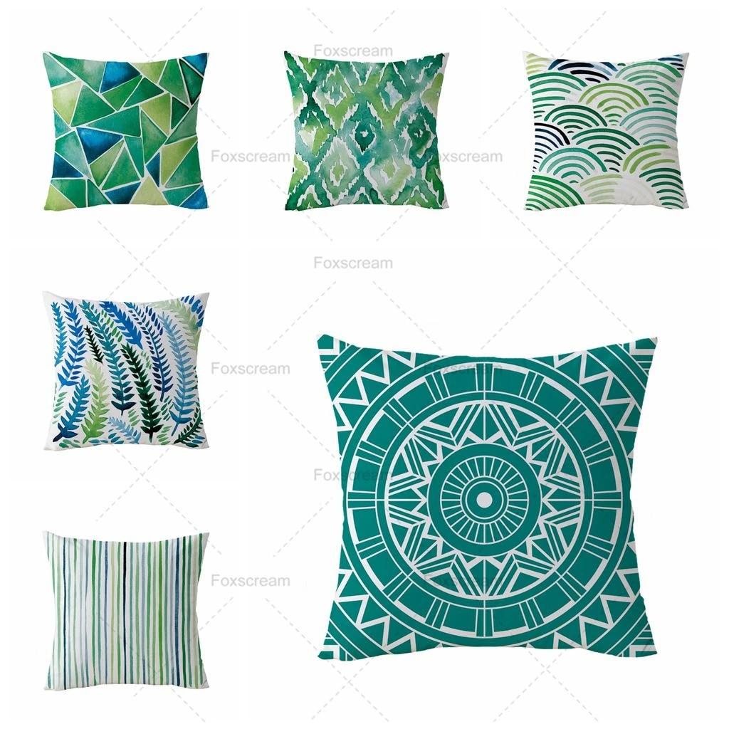 turquoise pillow case green decorative pillows cover geometric cushion cover home decor throw pillows velvet pillowcase for sofa