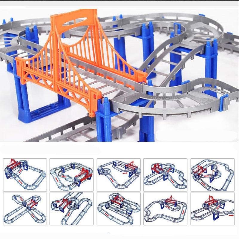 Magisk Järnvägsväg Spårleksaker DIY Variety Elektrisk Hastighet - Bilar och fordon - Foto 5