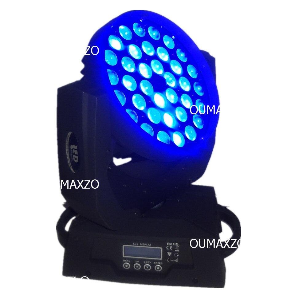 2 pcs/lot RGBAW LED zoom stade lumière 5 en 1 LED zoom lavage LED orientable dj lavage lumière RGBWA 5in1 LED s déplacer la tête 36x15 w dmx lavage - 3
