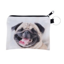 Happy pug 3D Printing women wallets portefeuille femme 2016 Fashion New billeteras para mujer coin purse billetera hombre wallet