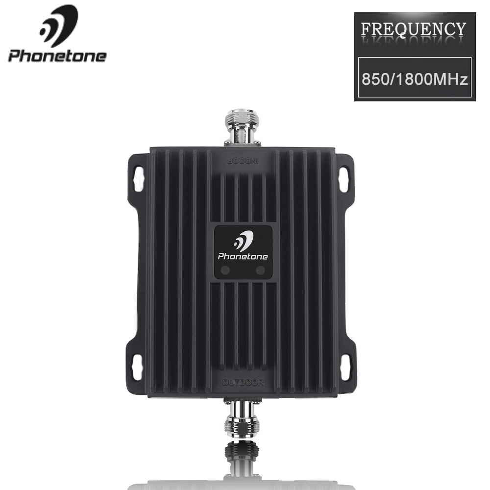 Cellular Signal Booster 850/1800MHz Dual Band 2G 4G Signal Booster 3G LTE 850+1800MHz GSM Repeater 65dB Mobile Signal Repeater