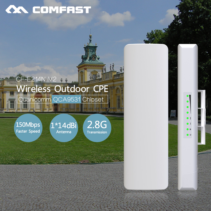 2Pcs~ Access Point Outdoor CPE long range 5KM WIFI Signal Amplifier wireless hotspot 2.4Ghz router for ip camera project CF-E214 2pcs 5 8g 300mbps cpe wifi signal booster amplifier network bridge 2 14dbi antenna wi fi access point nanostatio for ip camera