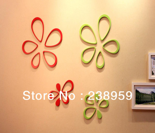3D MDF home decoration drops of water shape wall sticker, creative ...