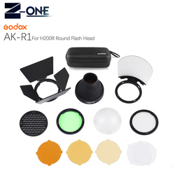 Godox AD200 H200R Accessories AK-R1 Barn Door, Snoot, Color Filter, Reflector, Honeycomb, Diffuser Ball Kits