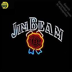 Jim Beam neon żarówka neonowa druk znak neonowy znak świetlny szklana rurka pub piwny rzemieślnicze handlowych Iconic znak żarówka neonowa s światła
