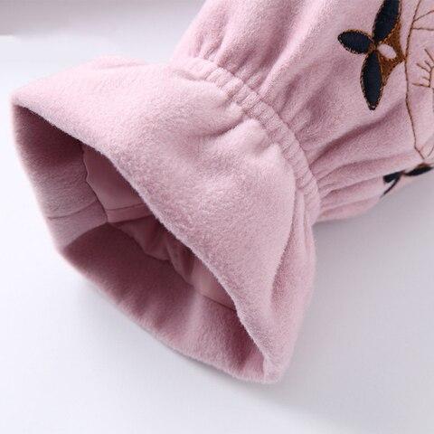 outono inverno meninas casaco de la rosa