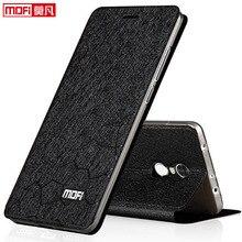 """Xiaomi redmi 5 plus 케이스 가죽 스탠드 북 PU Mofi 럭셔리 소프트 실리콘 카파 글리터 5.99 """"3GB redmi 5 plus 커버 용 플립 케이스"""
