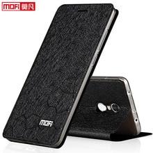 Флип чехол для xiaomi redmi 5 plus, кожаный чехол книжка из искусственной кожи Mofi, роскошный мягкий силиконовый чехол с блестками, чехол для redmi 5 plus 5,99 дюйма 3 ГБ