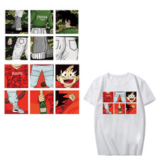 Anime Dragon Ball Patch Iron-on Transfers for Clothing T-shirt DIY Accessory Washable Stickers on Clothes Heat Press Appliques