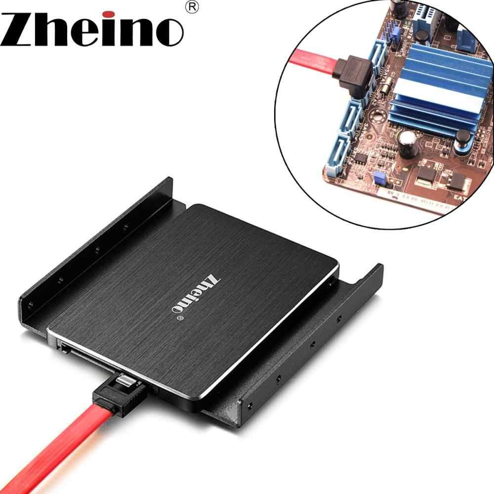 Zhejino 2,5 SSD soporte de marco de montaje para 2,5 pulgadas a 3,5 pulgadas HDD 2,5 adaptador de unidad óptica