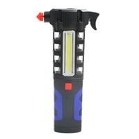 Multipurpose Car Vehicle Magnetic LED Flashlight Safety Escape Rescue Window Breaker Emergency Hammer Tool Magnet COB