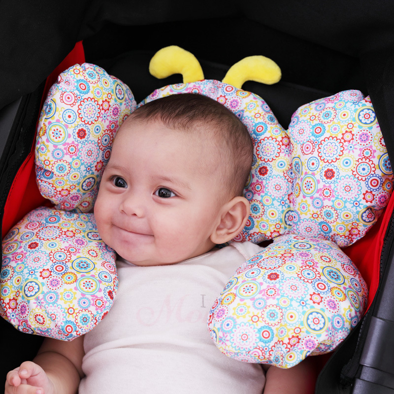 Baby Newborn Stroller Body Support Cushion Soft Infant Sleeping Pillow Safe Car Pillow Qualified Baby Neck Protection Pillow -30